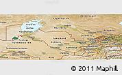 Satellite Panoramic Map of Uzbekistan