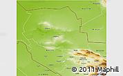 Physical 3D Map of Samarkand