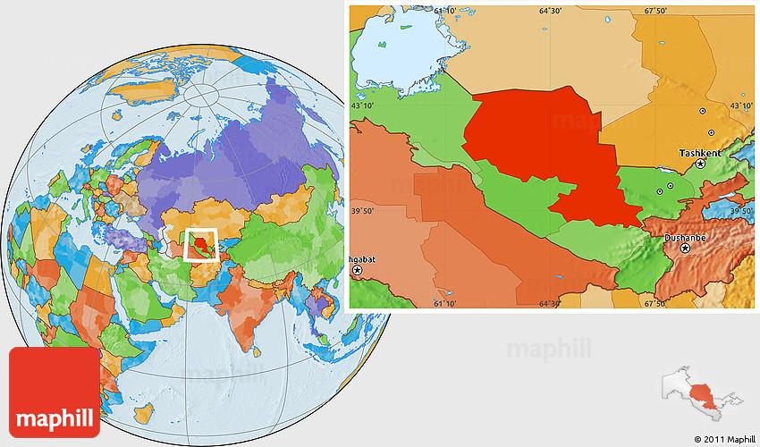 Political Location Map of Samarkand