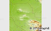 Physical Map of Samarkand