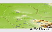 Physical Panoramic Map of Samarkand