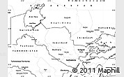 Blank Simple Map of Uzbekistan