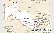 Classic Style Simple Map of Uzbekistan