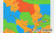 Political Simple Map of Uzbekistan