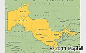 Savanna Style Simple Map of Uzbekistan