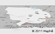 Gray Panoramic Map of Syrdarya