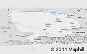 Silver Style Panoramic Map of Syrdarya