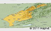 Savanna Style Panoramic Map of Tashkent Oblast