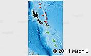 Flag 3D Map of Vanuatu, physical outside