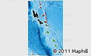 Flag 3D Map of Vanuatu, political outside