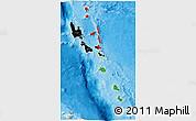 Flag 3D Map of Vanuatu, political shades outside