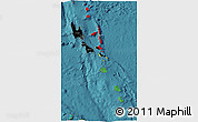 Flag 3D Map of Vanuatu, satellite outside