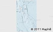 Gray 3D Map of Vanuatu, single color outside