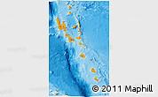 Political 3D Map of Vanuatu, physical outside