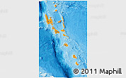 Political 3D Map of Vanuatu, single color outside