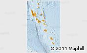 Political Shades 3D Map of Vanuatu, lighten