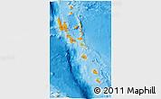 Political Shades 3D Map of Vanuatu, physical outside