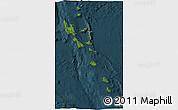 Satellite 3D Map of Vanuatu, darken