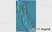Satellite 3D Map of Vanuatu, political shades outside, satellite sea