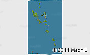Satellite 3D Map of Vanuatu, semi-desaturated, land only