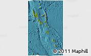 Satellite 3D Map of Vanuatu, shaded relief outside, satellite sea