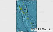 Satellite 3D Map of Vanuatu, single color outside