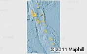 Savanna Style 3D Map of Vanuatu, single color outside