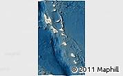 Shaded Relief 3D Map of Vanuatu, darken