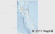 Shaded Relief 3D Map of Vanuatu, lighten
