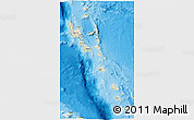 Shaded Relief 3D Map of Vanuatu, physical outside