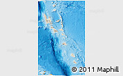 Shaded Relief 3D Map of Vanuatu, political outside, shaded relief sea