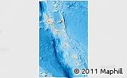 Shaded Relief 3D Map of Vanuatu, satellite outside, shaded relief sea