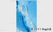 Shaded Relief 3D Map of Vanuatu, semi-desaturated, land only
