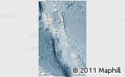 Shaded Relief 3D Map of Vanuatu, semi-desaturated