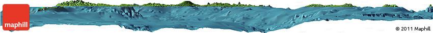 Satellite Horizon Map of Vanuatu