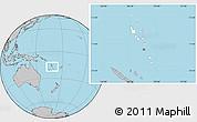 Blank Location Map of Vanuatu, gray outside