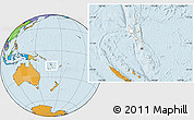 Blank Location Map of Vanuatu, political outside
