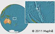 Blank Location Map of Vanuatu, satellite outside