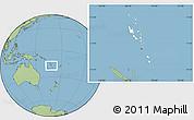 Blank Location Map of Vanuatu, savanna style outside
