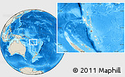 Blank Location Map of Vanuatu, shaded relief outside