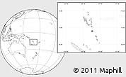 Gray Location Map of Vanuatu, blank outside