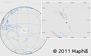 Gray Location Map of Vanuatu, lighten, desaturated