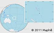 Gray Location Map of Vanuatu, lighten, land only