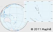 Gray Location Map of Vanuatu, lighten