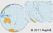 Gray Location Map of Vanuatu, political outside