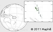 Satellite Location Map of Vanuatu, blank outside