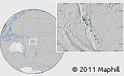Satellite Location Map of Vanuatu, lighten, desaturated