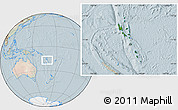 Satellite Location Map of Vanuatu, lighten