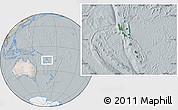 Satellite Location Map of Vanuatu, lighten, semi-desaturated