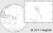 Savanna Style Location Map of Vanuatu, blank outside